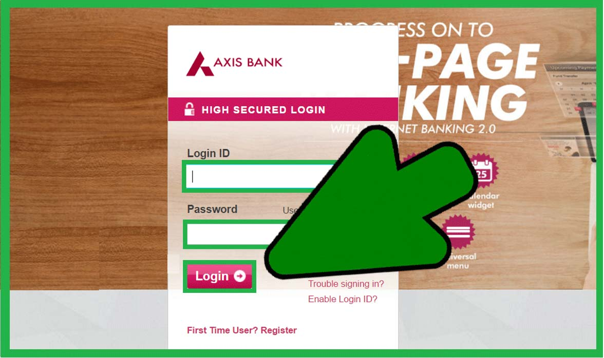 how to Login Axis Bank