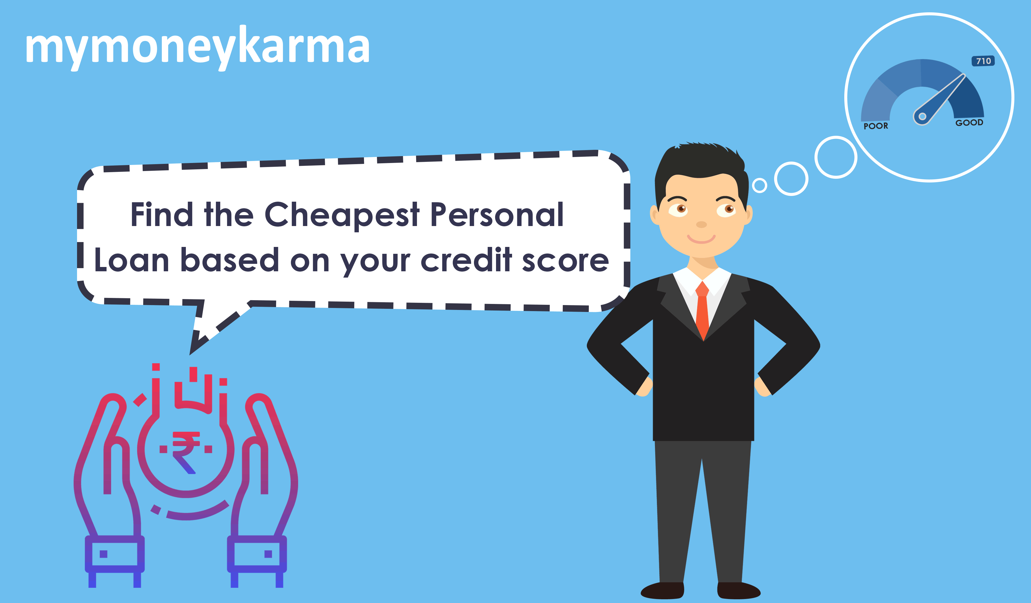 Find the Cheapest Personal Loan based on your credit score