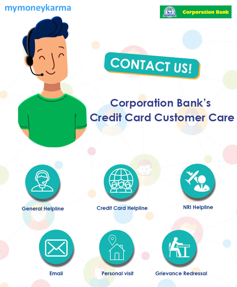 Corporation Bank credit card Customer Care