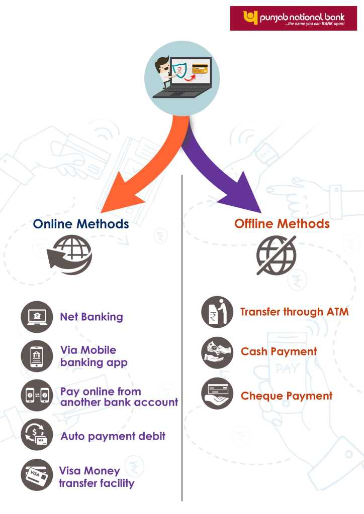 online and offline method for Bank of Punjab National Bank credit card bill payment