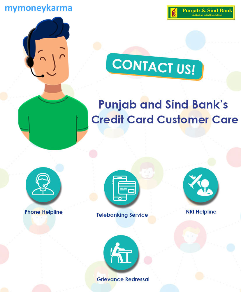 Punjab Sind Bank credit card Customer Care