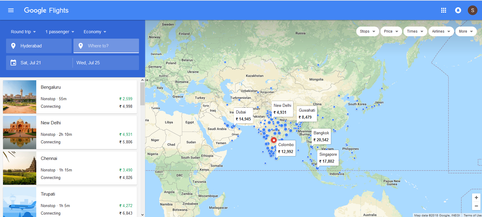 Be Updated by Using Google Flights