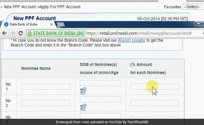 How to create new PPF account through SBI website onlinesbi.com